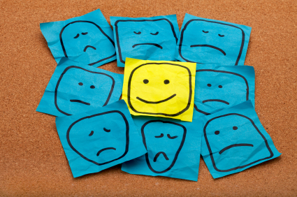 Ha! Nine faces, only one smiling. I think this represents my nine TTC cycles ... Via timemanagementninja.com.