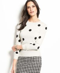 Optic Dots Sweater from Ann Taylor. Via anntaylor.com.